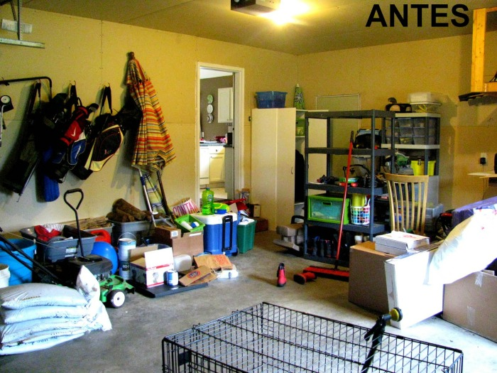 Organização da garagem