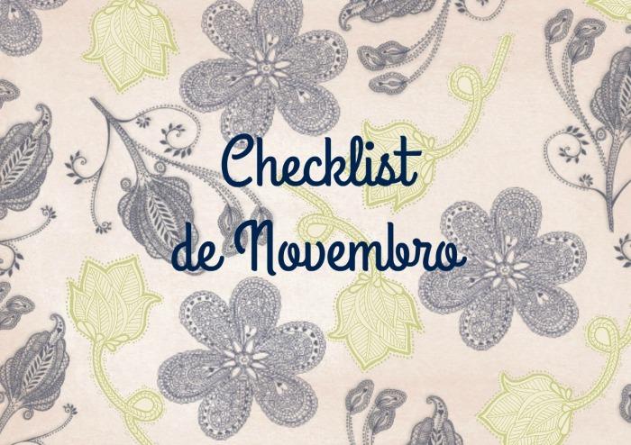 Checklist de novembro